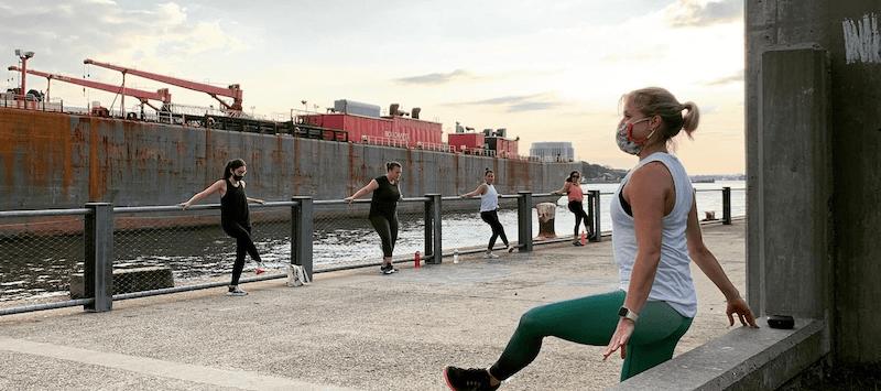 Pure barre studio fitness